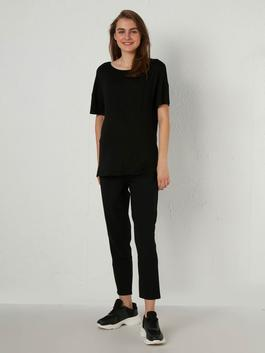 BLACK - Carrot Fit Maternity Trousers