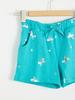 GREEN - Girl's Printed Cotton Shorts - S16374Z4