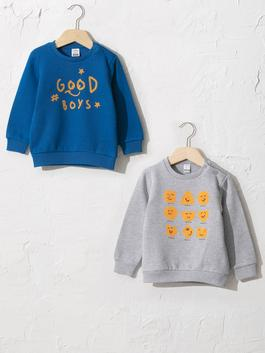 BLUE - 2-pack Baby Boy's Sweatshirt