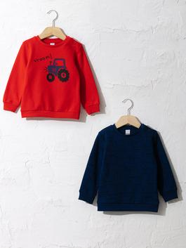RED - 2-pack Baby Boy's Printed Sweatshirt
