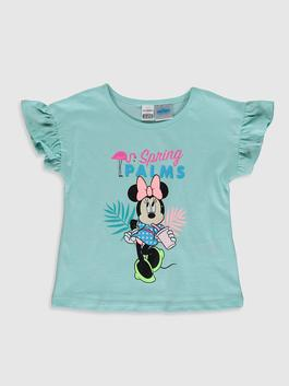 GREEN - Baby Girl's Minnie Mouse Printed T-Shirt