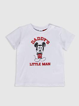 WHITE - Baby Boy's Mickey Mouse Printed T-Shirt