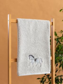 GREY - Embroidery Face Towel