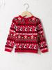 RED - Baby Girl Christmas Themed Patterned Knitwear Sweater - 0WBK49Z1