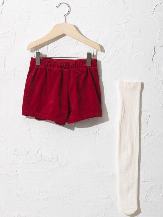 BORDEAUX - Baby Girl's Shorts and Tights - 0WCQ33Z1