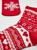 RED - Girl's New Year Themed Pouched Ankle Socks - 0WBG57Z4