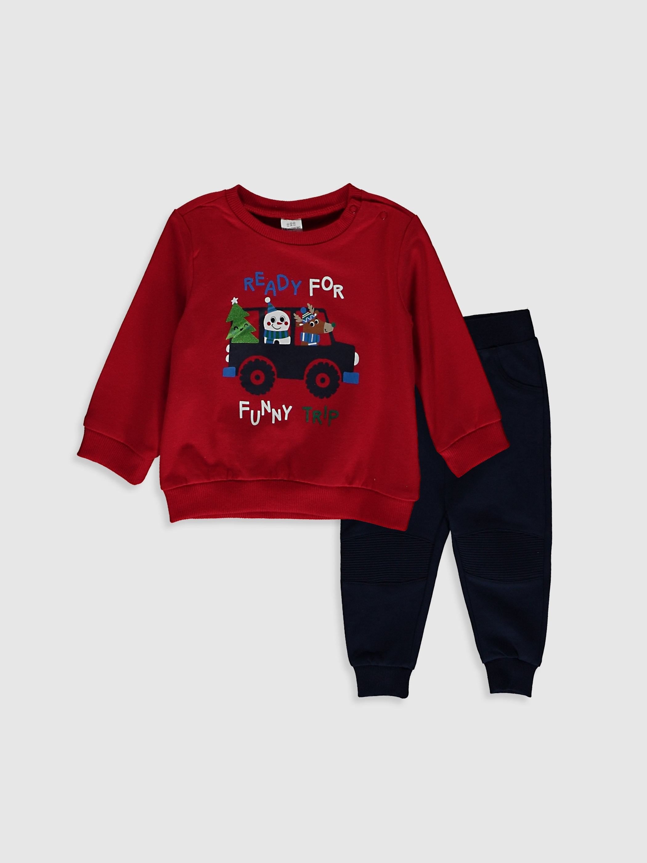 RED - 2-pack Baby Boy's Printed Set - 0WBD02Z1