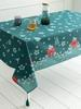 GREEN - Christmas Themed Printed Tablecloth - 0WCQ31Z8