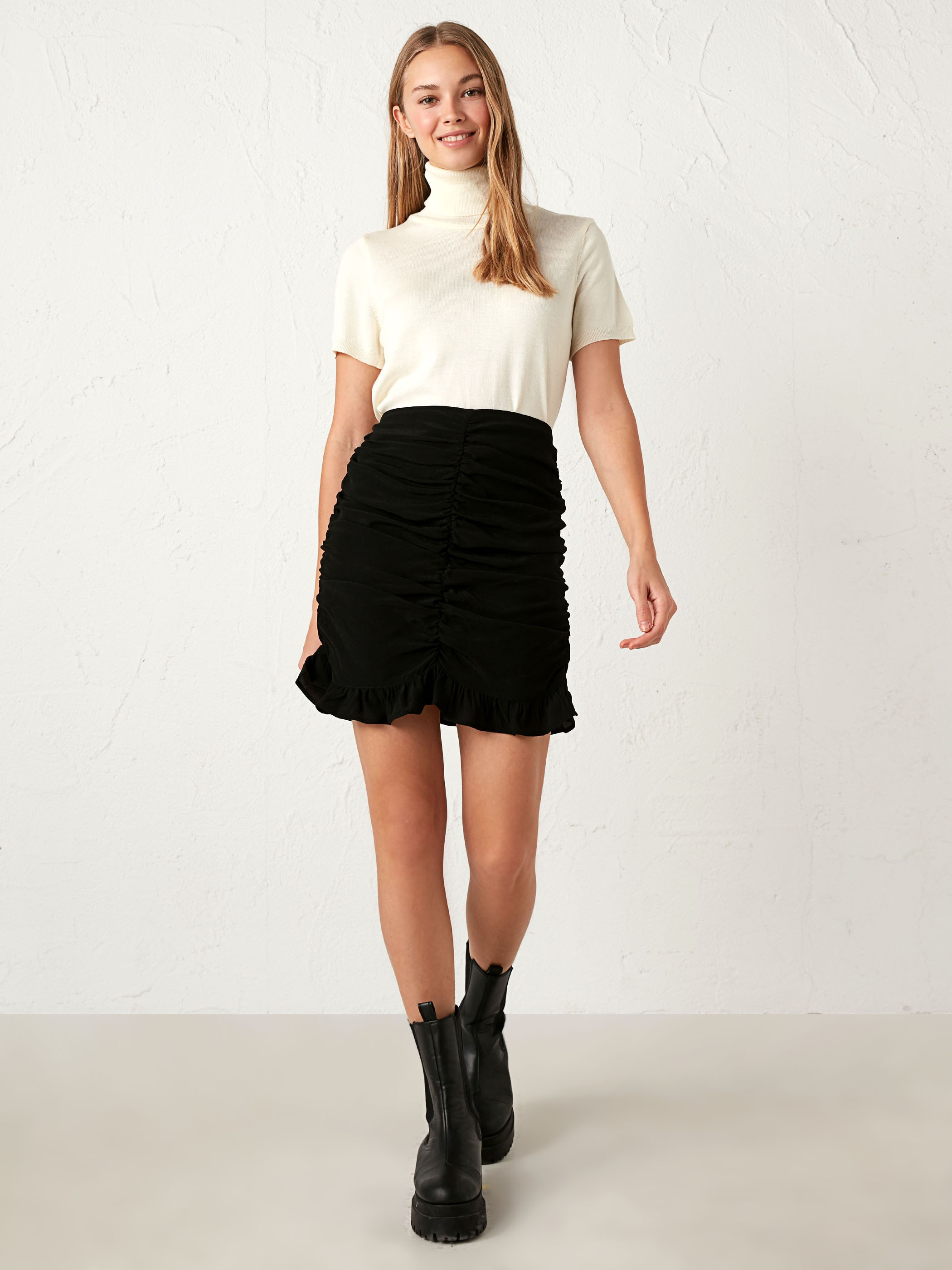 BLACK - Satin Midi Skirt - 0WHI03Z8