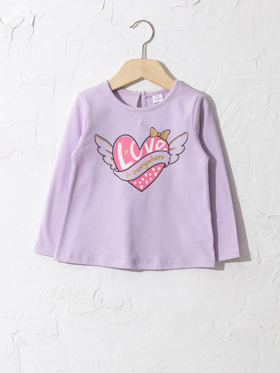 LILAC - Baby Girl's Printed Cotton T-Shirt - 0WHN34Z1