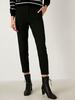 BLACK - Ankle Length Carrot Fit Trousers - 0WHQ49Z8