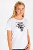 WHITE - Minnie Mouse Printed Cotton T-Shirt Mother and Daughter Matching - 9WQ231Z4
