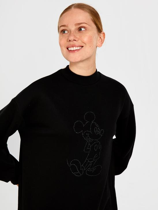 BLACK - Mickey Mouse Embroidered Sweatshirt - 9WY330Z8