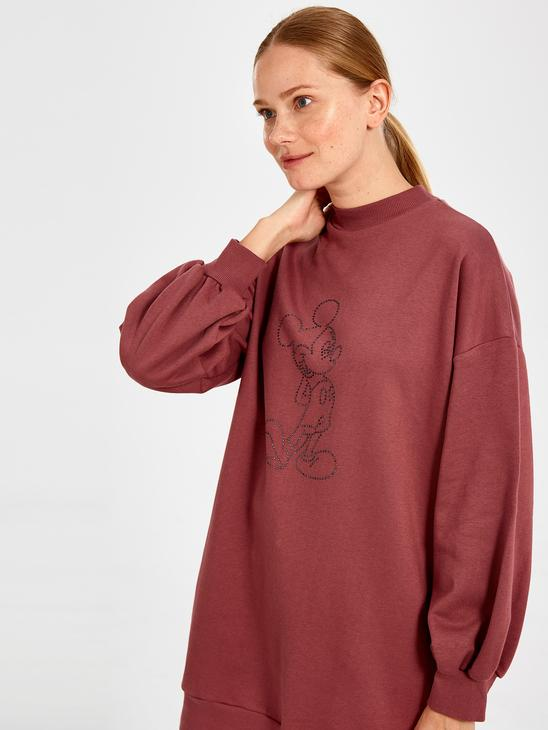 PINK - Mickey Mouse Embroidered Sweatshirt - 9WY330Z8