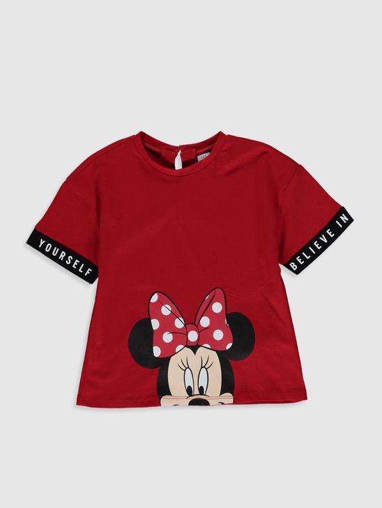 RED - Baby Girl'ss Minnie Mouse Printed Cotton T-Shirt Mother and Daughter Matching - 0SJ560Z4