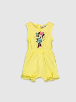 YELLOW - Baby Girl's Minnie Mouse Printed Jumpsuit