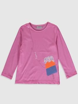 PINK - Girl's Printed Cotton T-Shirt