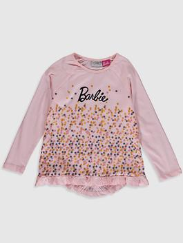 PINK - Girl's Barbie Printed Cotton T-Shirt