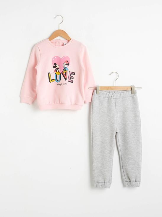 PINK - Baby Girl Mickey and Minnie Mouse Printed Suit 2 Pieces - 0WGK78Z1