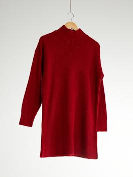 RED - Loose Fit Neckband Tunic