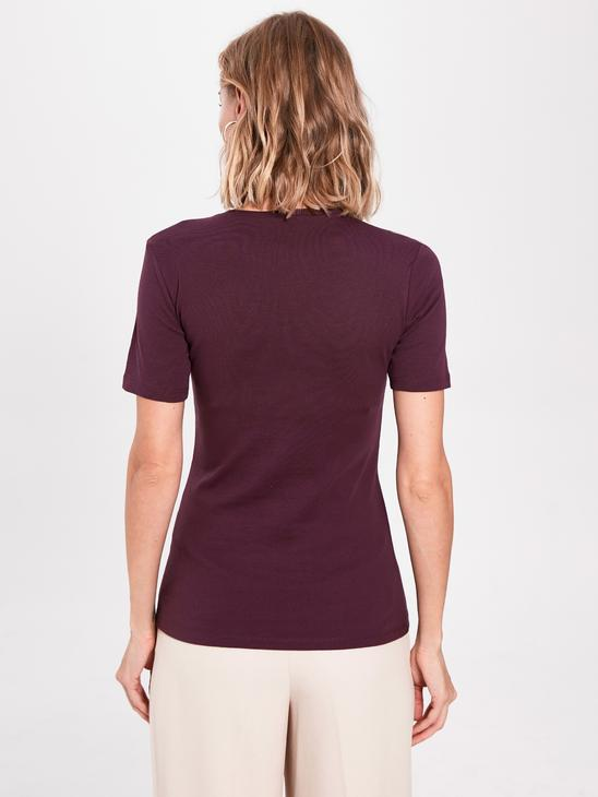 PURPLE - Plain Basic Cotton T-Shirt - 0S2138Z8