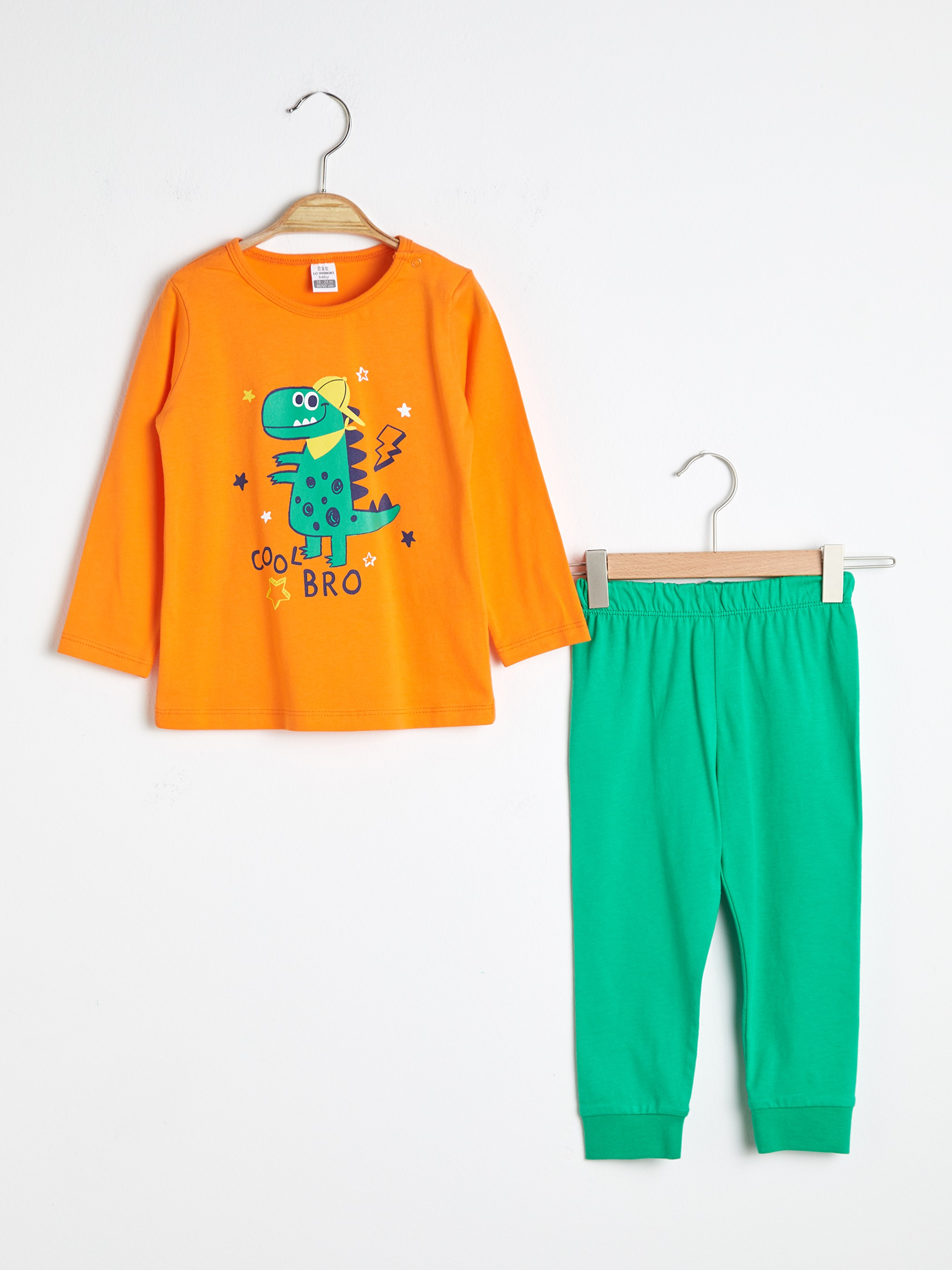 ORANGE - Baby Boy's Printed Pyjamas Set - S1AD77Z1
