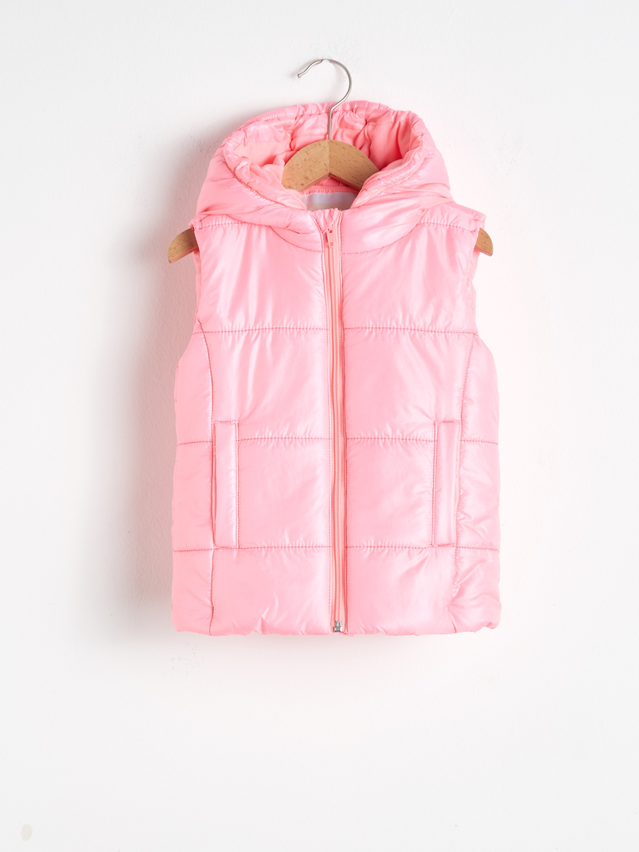 CORAL - Girl's Puffer Vest with Hood - S13695Z4
