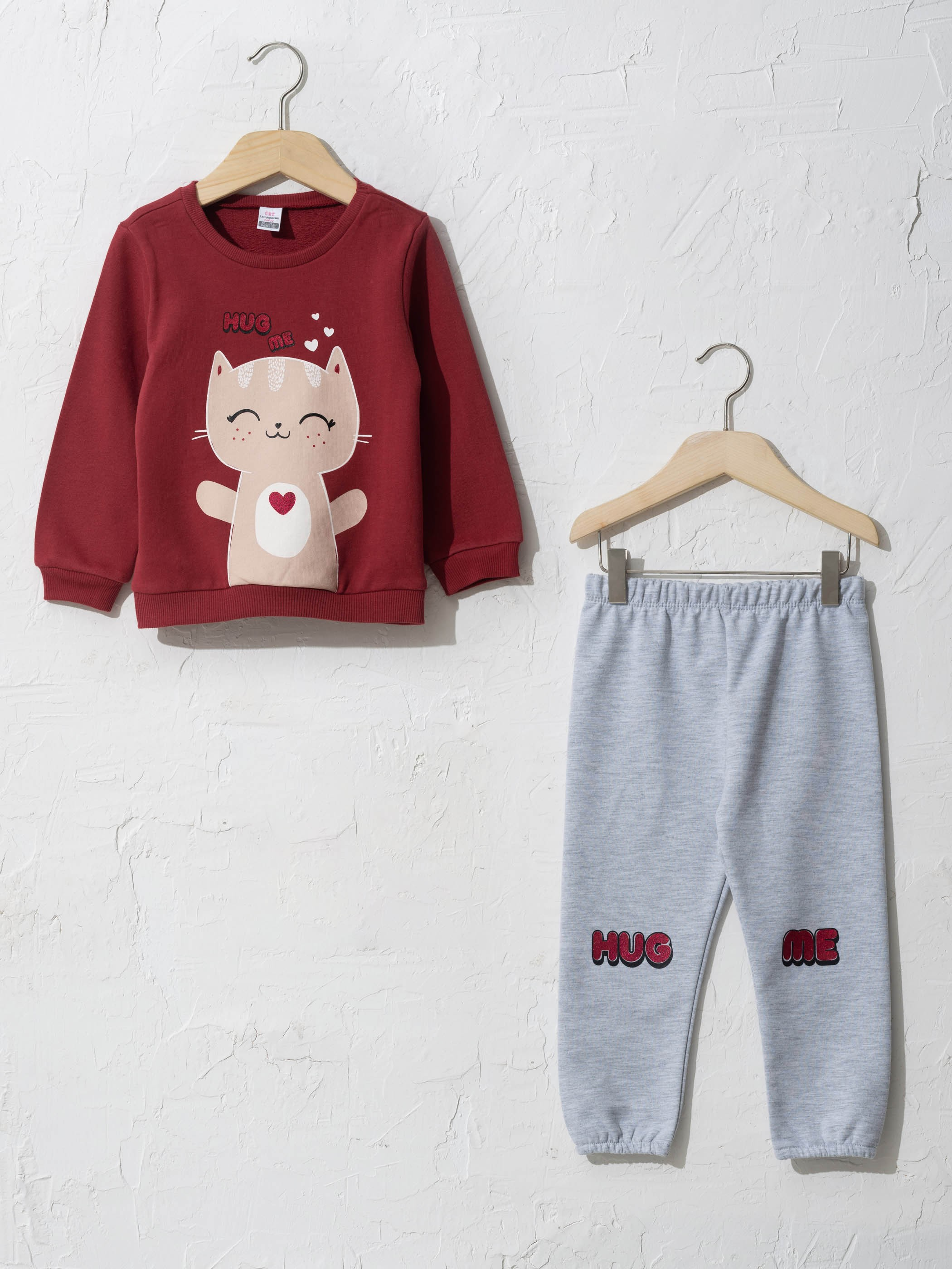 BORDEAUX - Baby Girl's Sweatshirt and Trousers - 0W6842Z1