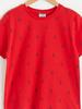 RED - Boy's Printed Cotton T-Shirt - S13498Z4
