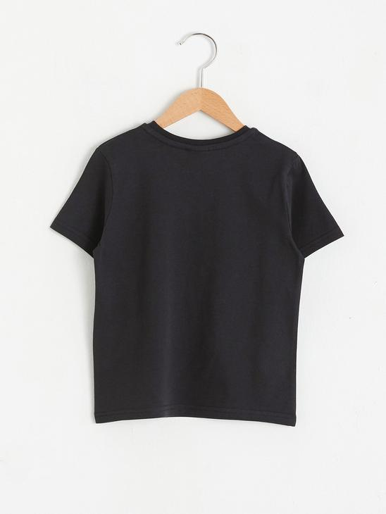 ANTHRACITE - Boy's Printed Cotton T-Shirt - S18583Z4