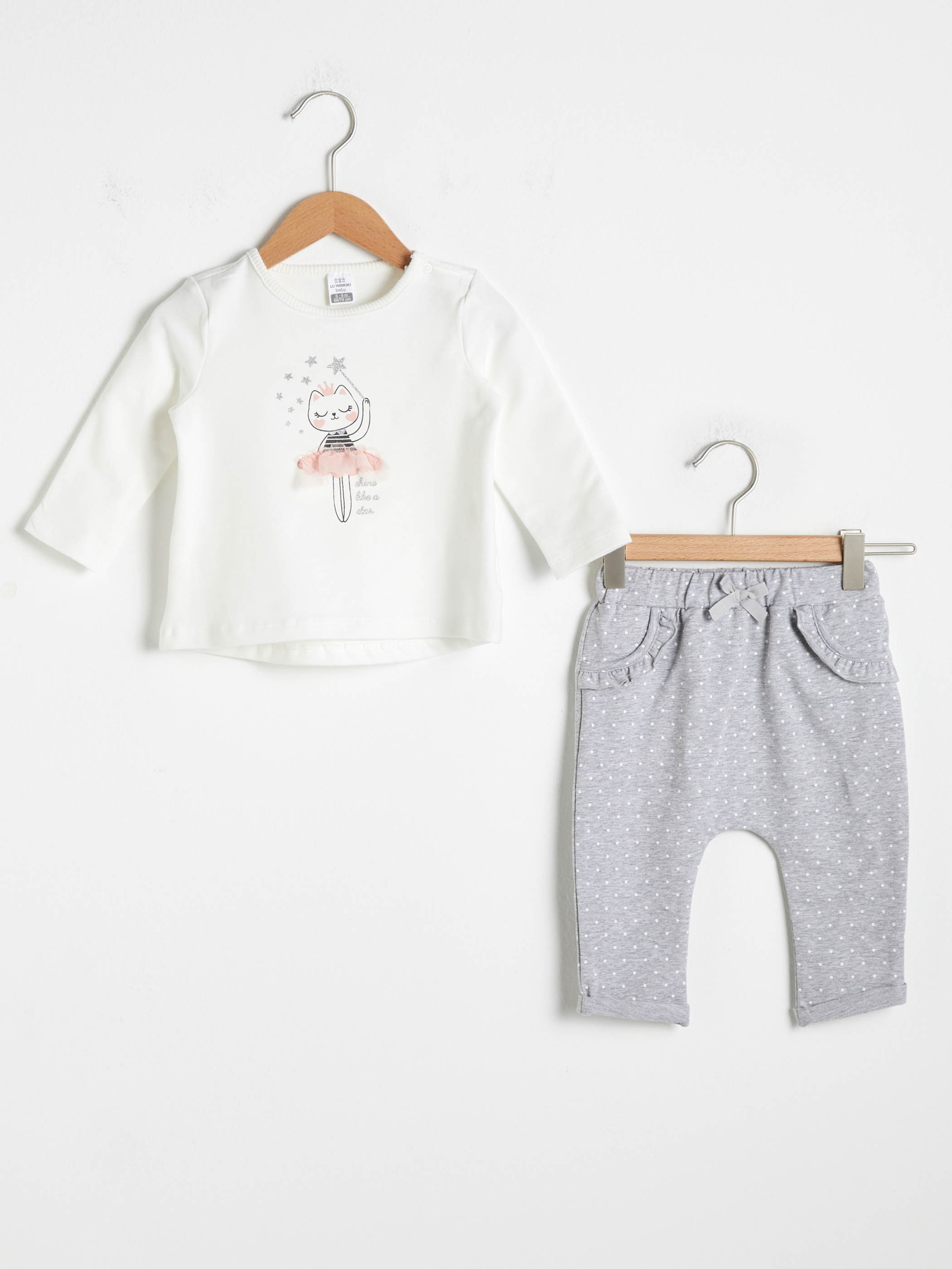 ECRU - Baby Girl's T-Shirt and Trousers - S10841Z1