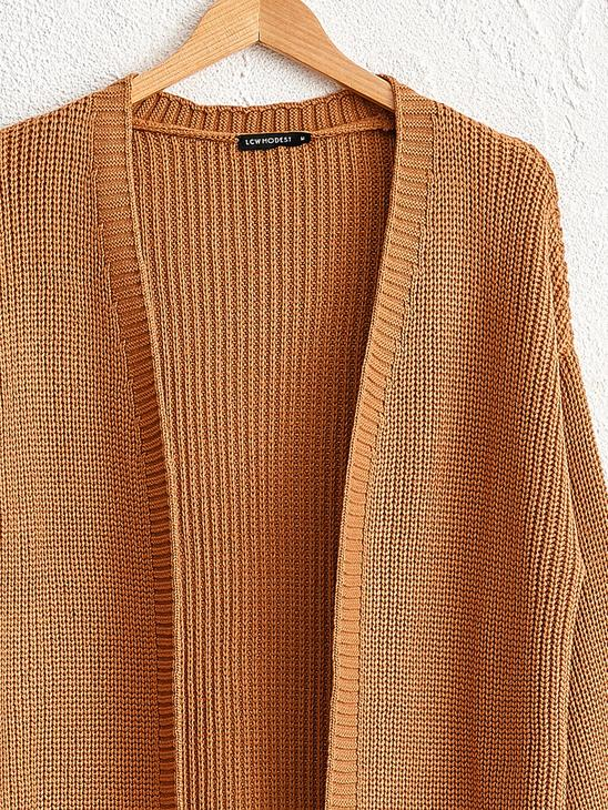 BROWN - Loose Fit Tricot Cardigan - 0WCY12Z8