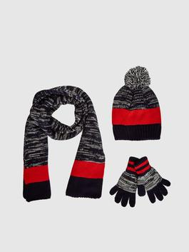 NAVY - Boy's Tricot Beret, Gloves and Scarves