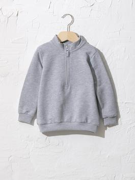 GREY - Baby Boy's Zip-Down Sweatshirt