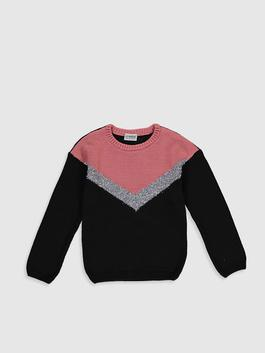 ANTHRACITE - Girl's Heavy Tricot Jumper