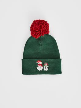 GREEN - Boy's New Year Themed Tricot Beret