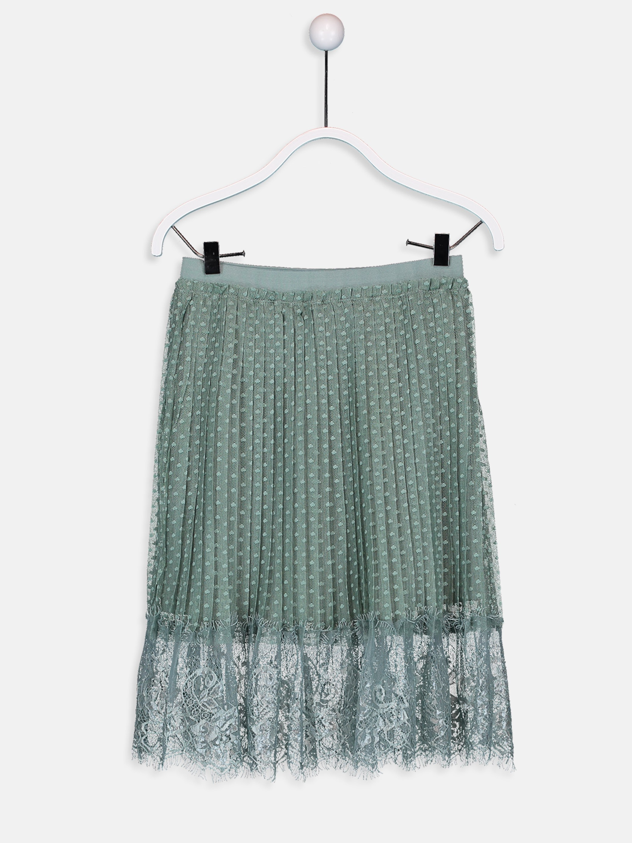GREEN - Girl's's Pleated Tulle Skirt Mother and Daughter Matching - 9WN280Z4