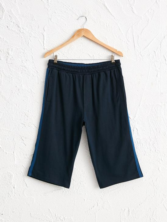 NAVY - Elastic Waist Cotton Shorts - 0SB295Z8