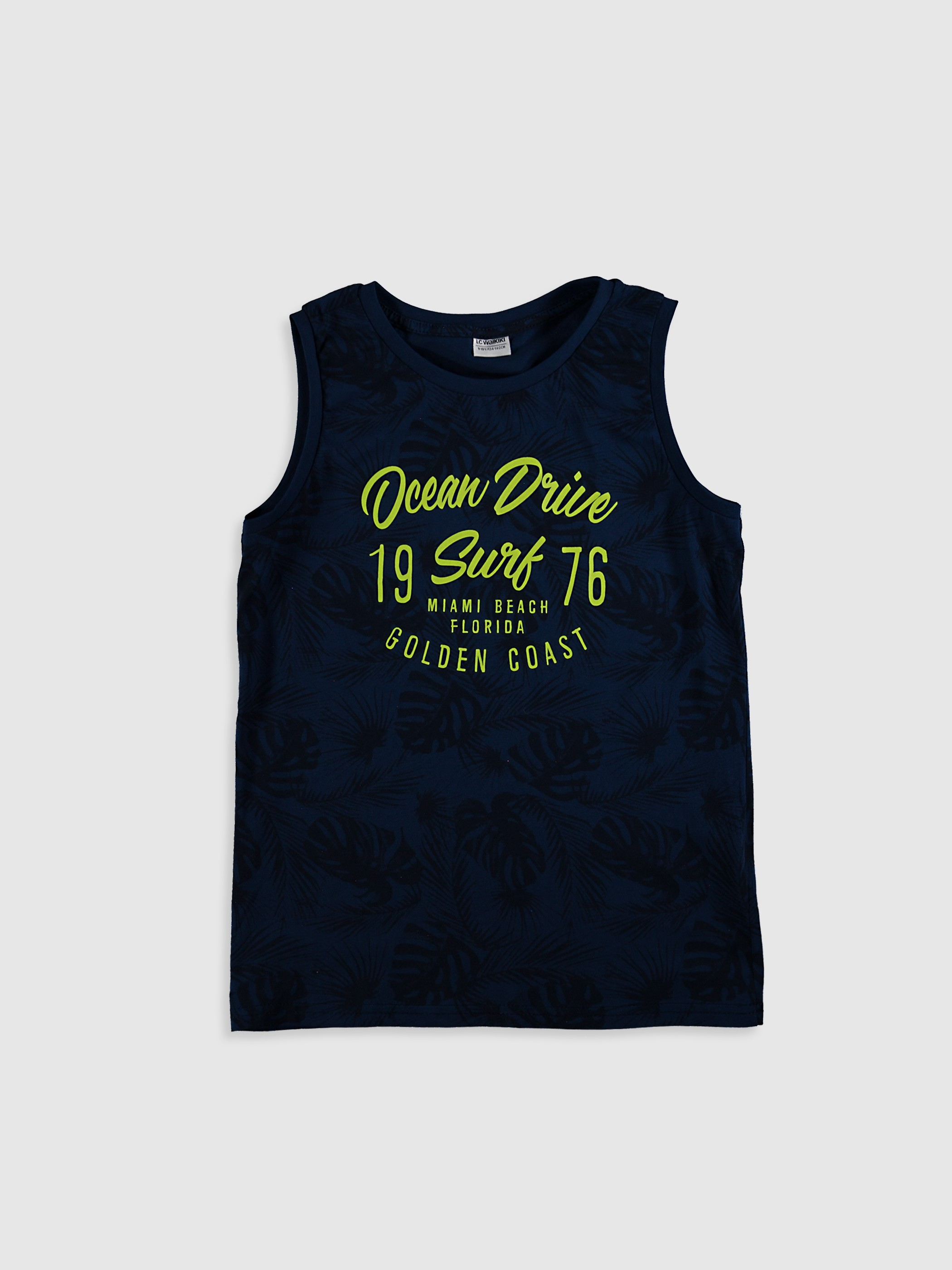 NAVY - Boy's Printed Cotton Tank Top - 0SB634Z4