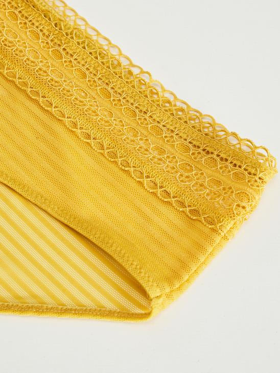 YELLOW - Lace Detailed Hipster Briefs - 0SD666Z8