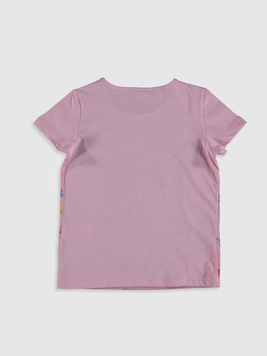 PINK - Girl's Printed Cotton T-Shirt - 0SC955Z4