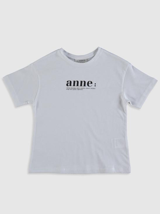 WHITE - Girl's Letter Printed Cotton T-Shirt Family Matching - 0SE141Z4