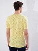 YELLOW - Crew Neck Printed Combed Cotton T-Shirt Father and Son Matching - 0SE286Z8