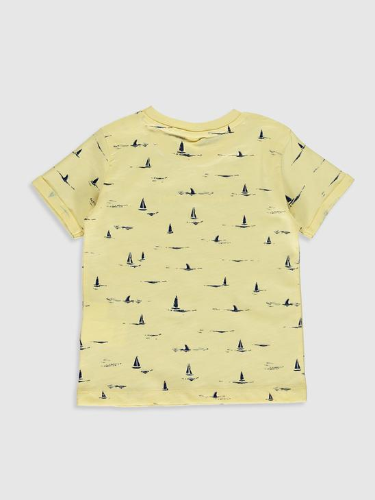 YELLOW - Baby Boy's Printed T-Shirt Father and Son Matching - 0SE293Z1