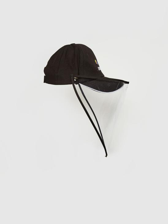 BLACK - Girl's Visor Face Protective Hat - 0SE412Z4