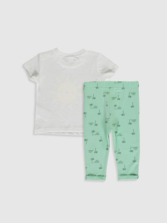 WHITE - 2-pack Baby Boy's Printed Set - 0SE407Z1