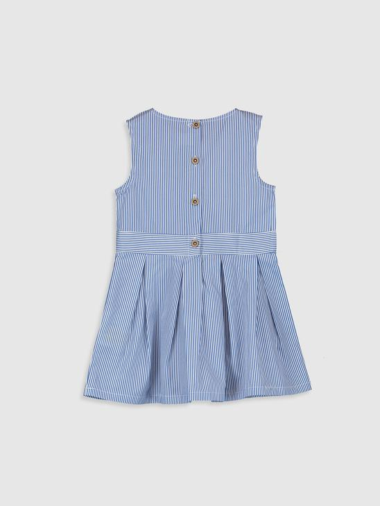 BLUE - Baby Girl's's Striped Dress Mother and Daughter Matching - 0SE712Z4
