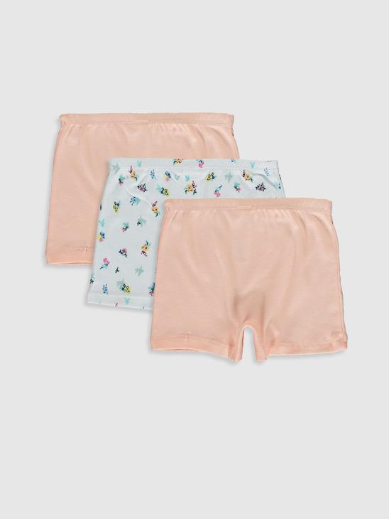 PINK - 3-pack Girl's Cotton Boxers - 0SE776Z4