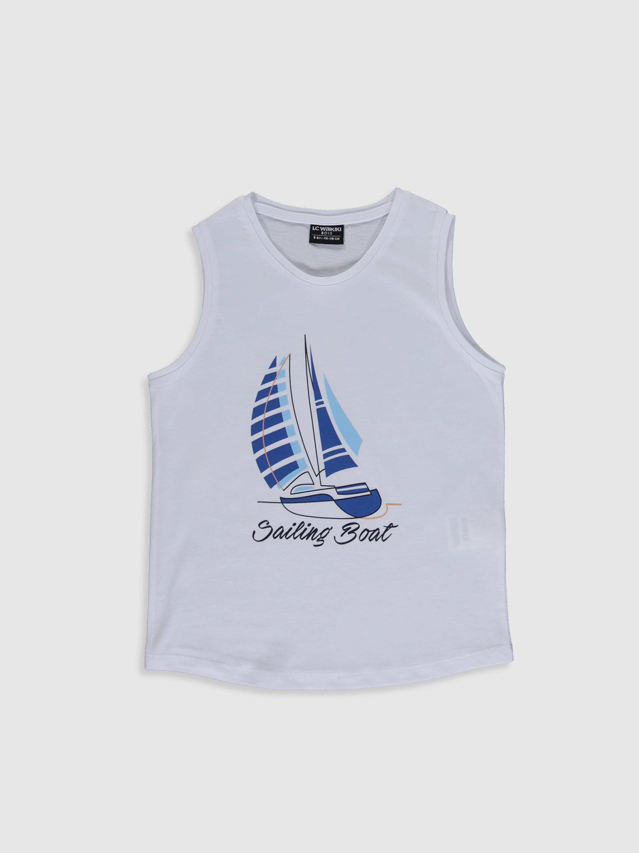 WHITE - Boy's Printed Cotton Tank Top Family Matching - 0SE817Z4
