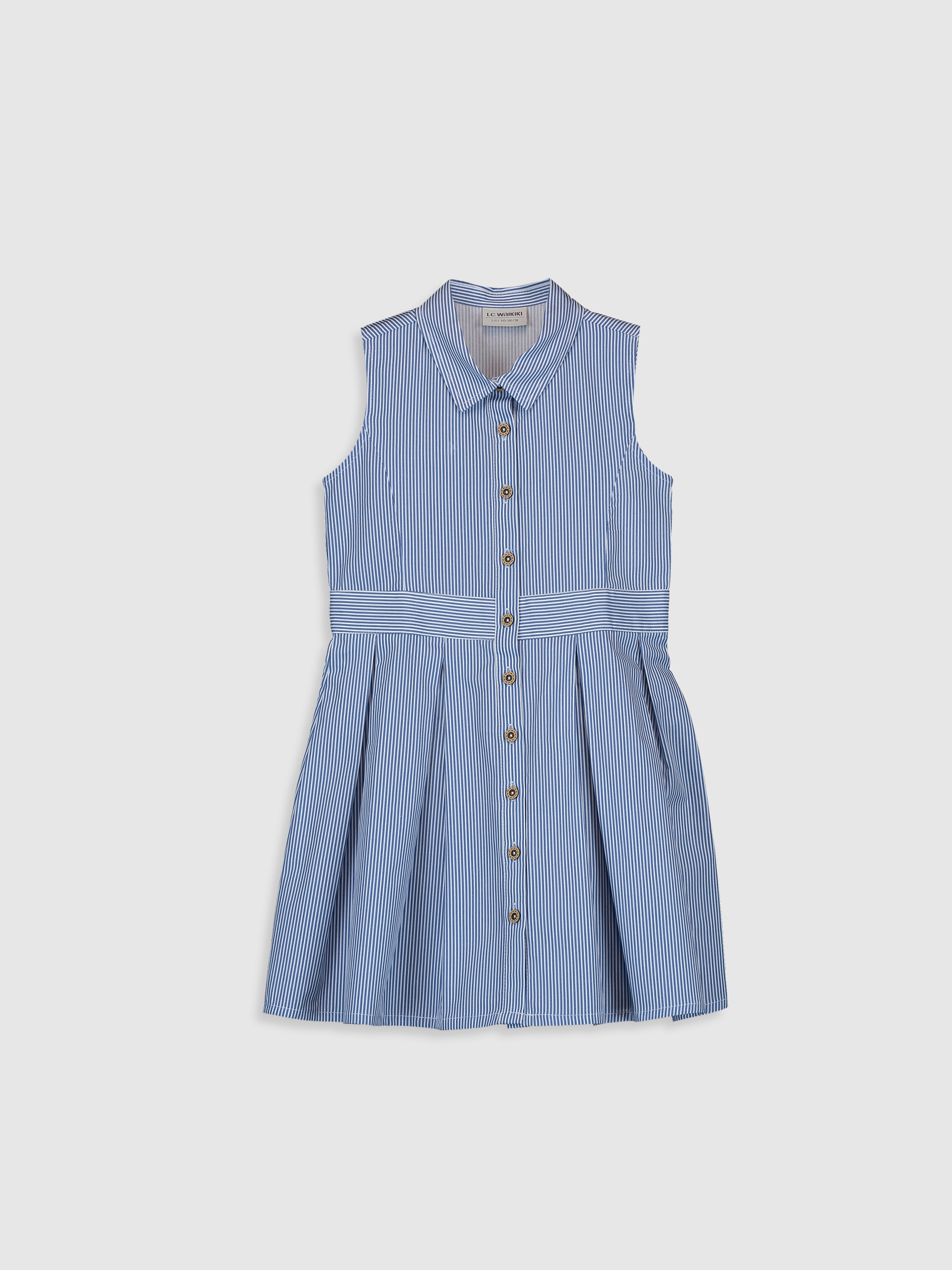 BLUE - Girl's's Striped Poplin Dress Mother and Daughter Matching - 0SE711Z4